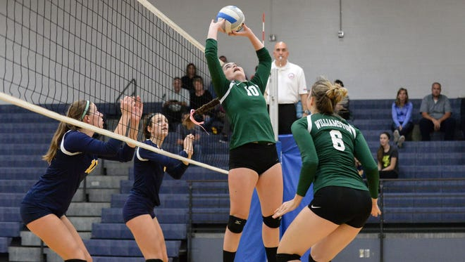 Williamston's  Alana Kemler ranks among the area's leaders in assists.