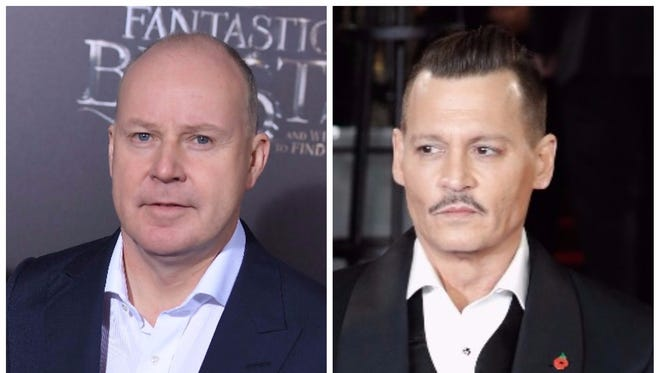 """'Fantastic Beasts' director David Yates, left, said this of the accusations made against Johnny Depp: It's a """"dead issue."""""""