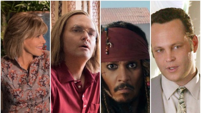 Season 4 of 'Grace and Frankie,' original comedy 'A Futile and Stupid Gesture,' the newest 'Pirates of the Caribbean' and 'Wedding Crashers' will all be available on Netflix in January.