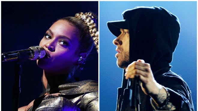 Beyonce and Eminem are two of the headlining acts for Coachella's 2018 festival.