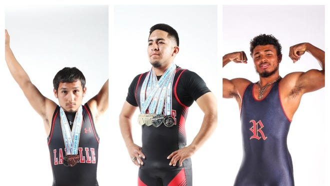 The finalists for The News-Press All-Area Boys Weightlifter of the Year are (from left) Edward Brown, Santiago Morales and Keenan Walker.