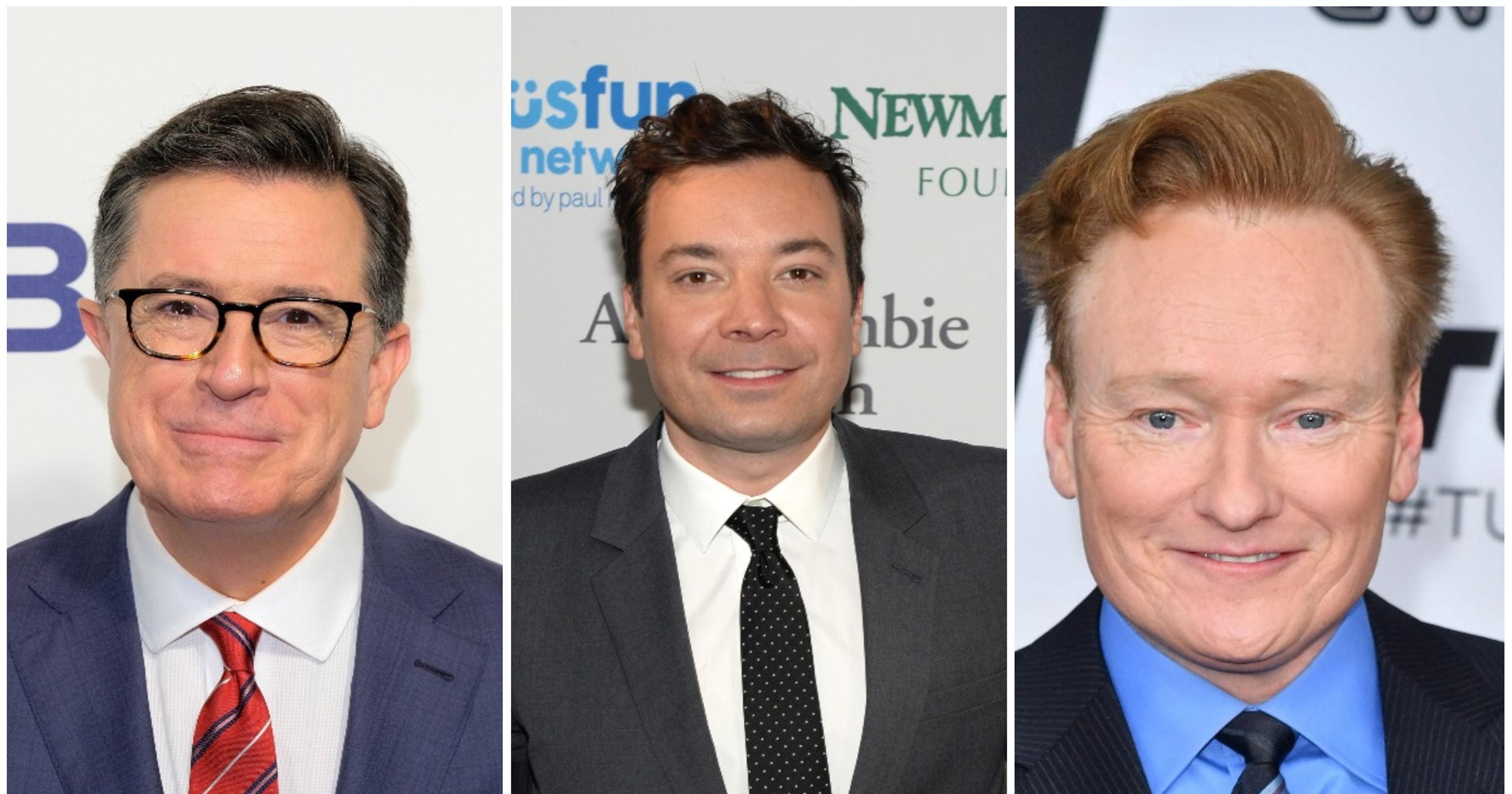 Colbert, Fallon, Conan team for response to Donald Trump\'s insults
