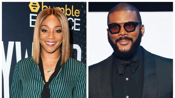 "Tyler Perry surprised Tiffany Haddish a Tesla after they worked together on ""Nobody's Fool."""