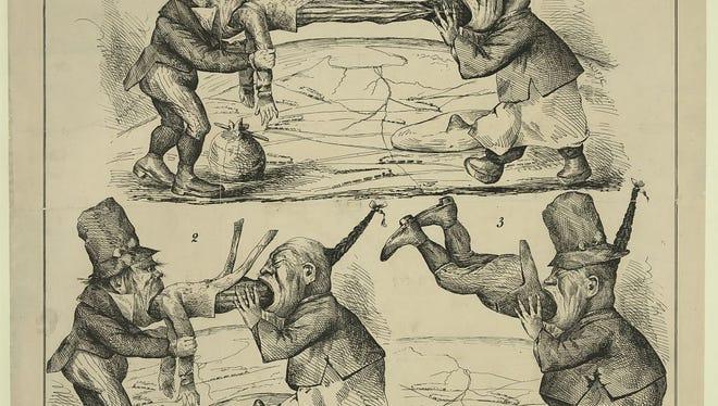 Anti-immigration cartoon, 1860s.