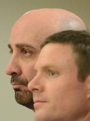 David Sciacca, left, stands with his attorney, Wesley Todd.