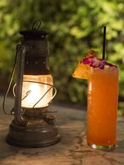 A tiki-themed drink at the tricky-to-find Fairweather