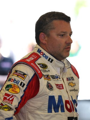Tony Stewart appeared eager to put the blowup with Ryan Newman behind him.