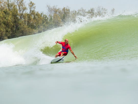 11X World Champion Kelly Slater scored a 8.8 point