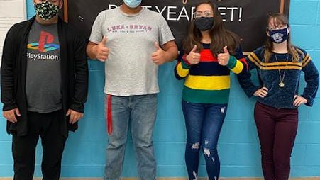CHS Balladiers, Hayden Shimizu, Ryan Sturgeon, Lydia Villa, and Lexi Galliers are among 100 Michigan students selected to attend the Michigan School Vocal Music Association Musical Theater Intensive on Oct. 24.