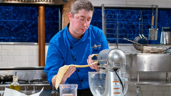 """South Shore chef Stephen Coe competes during the final round on """"Chopped: Beat Bobby Flay."""""""