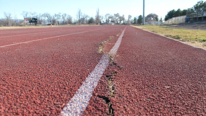 The track field at Tularosa High School will be replaced, along with a number of other upgrades,  now that the bond was passed by voters on Feb. 2.