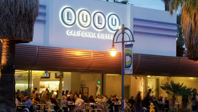 LULU California Bistro in downtown Palm Springs celebrates five years on Palm Canyon Drive.