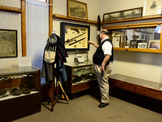 Gene Smith, curator of the Clyde Museum and McPherson
