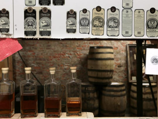 Detroit City Distillery on Tuesday, April 5, 2016.