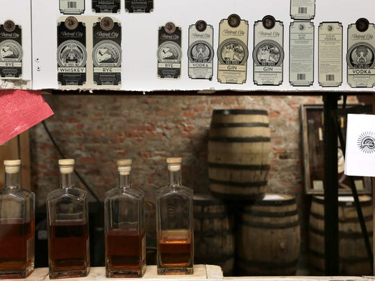 Detroit City Distillery on Tuesday, April 5, 2016.