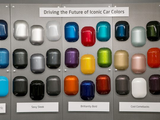 Automobile Paint Colors Hang On Display At Axalta Coating