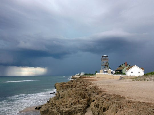 A storm brews over the House of Refuge Museum on Hutchinson Island.