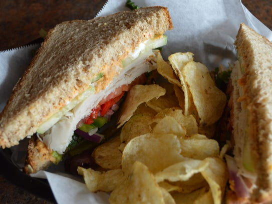 The Mediterranean dreams sandwich is made with turkey,