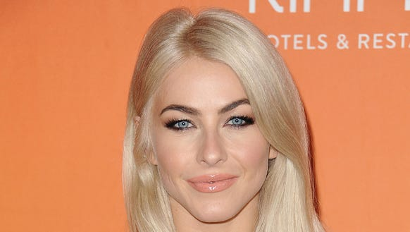 Julianne Hough is no longer blonde.