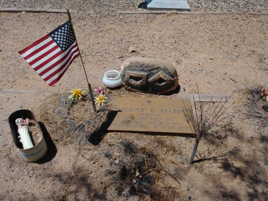 The grave marker of Frederick Frazer at Wickenburg
