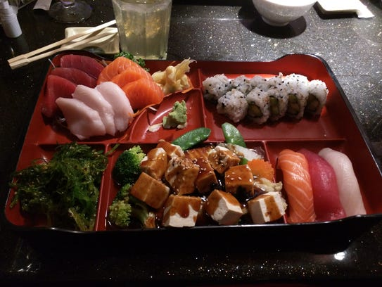 Wasabi Thai Sushi's Okinawa Bento box included a colorful