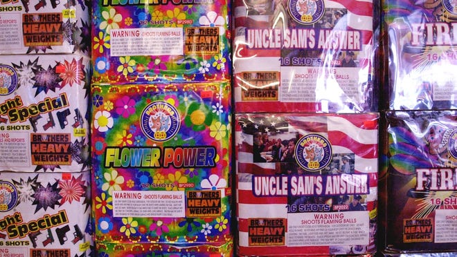 Examples of consumer fireworks, which are illegal in Massachusetts.