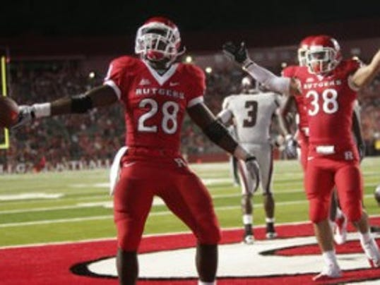Jackson native Savon Huggins has scored nine touchdowns during his first three seasons as a Rutgers halfback. (MyCentralJersey.com file photo)