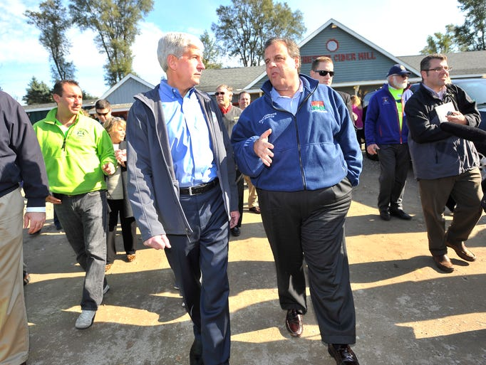Michigan Gov. Rick Snyder and New Jersey Gov. Chris