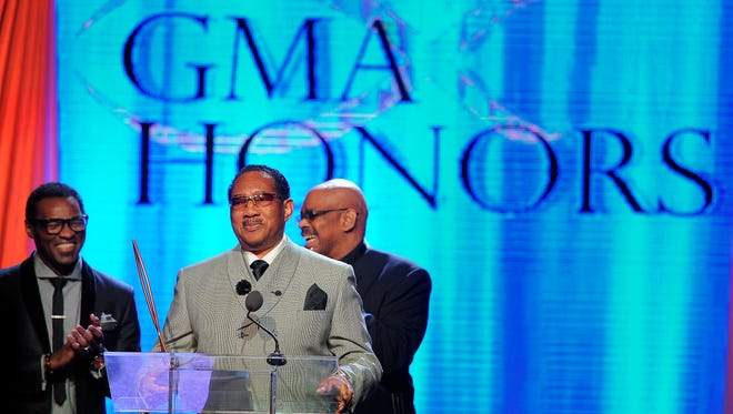 Dr. Bobby Jones was honored at the Gospel Music Association Honors Celebration at Lipscomb's Allen Arena on April 29, 2014, in Nashville.