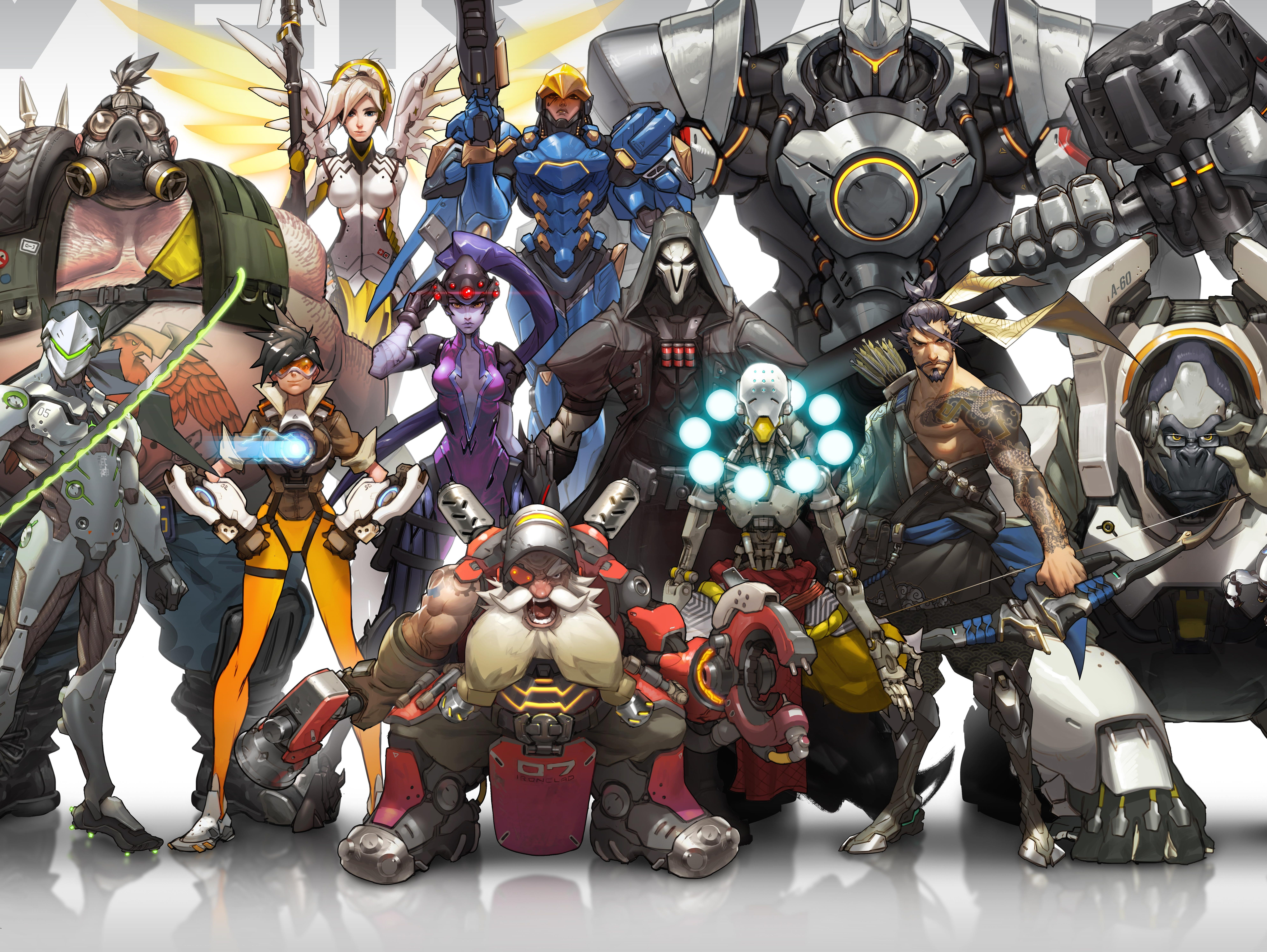 A selection of heroes appearing in the Blizzard game 'Overwatch.'