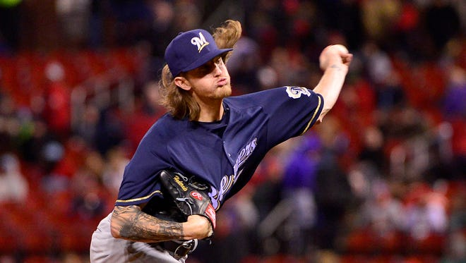 Josh Hader's funky delivery has helped him record saves in his last two appearances with a 1.54 ERA and 0.51 WHIP on the season.