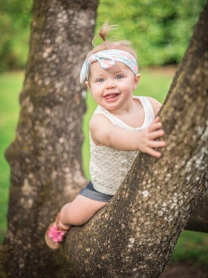 """Areia Gysin was named after Arya Stark, the young, tough and likable character on the HBO series """"Game of Thrones."""" Areia's mother, Alexis Gysin, a huge """"Thrones"""" fan, said, """"If I have another girl, I will be naming her Khaleesi."""""""