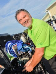 Gary Morris gets his clubs in order for Heathcote Botanical