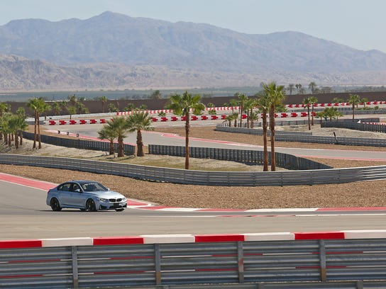 A BMW driver enters the track at the Thermal Club near Avenue 62 and Polk Street in Thermal. File photo, Friday, October 3, 2014.