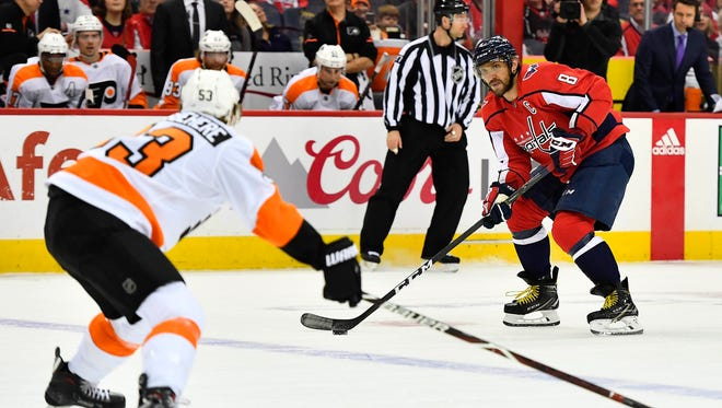 Shayne Gostisbehere and the Flyers opened their post-All-Star schedule in Washington Wednesday.