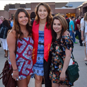 Karianne Jarvis (center) with her sister Nicole Jarvis (left) and friend Tiffany DiFaglia (right) at the Mount Olive High School graduation.