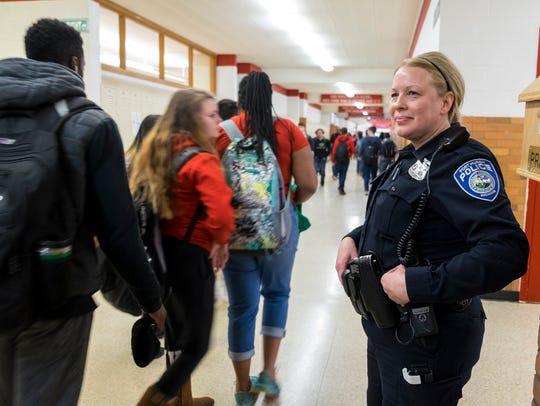 Port Huron Police school resource officer Laura Phillips
