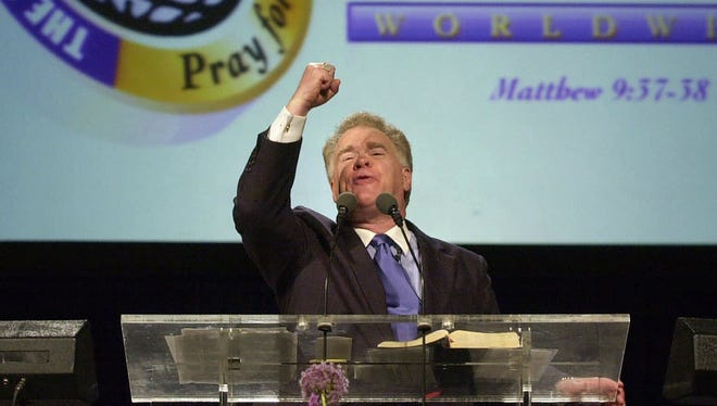 Paige Patterson, seen here delivering his Southern Baptist Convention president's address on June 13, 2000,  at the South Baptist Convention 2000 in Orlando, Fla. On Wednesday, May 23, 2018, Patterson was removed as head of a Texas seminary after growing criticism of comments he made about women and domestic abuse.
