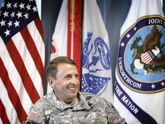 MARK LAMBIE—EL PASO TIMES Brig. Gen. Jon S. Lehr, commander of Joint Task Force North, had a retirement ceremony on Friday. His effective date for retiring is Nov. 1 and he has given up his command spot.
