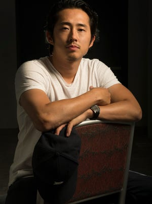 Steven Yeun became a dad on St. Patrick's Day.