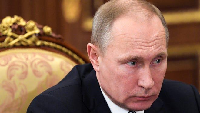 Russian President Vladimir Putin on Feb. 3, 2017.