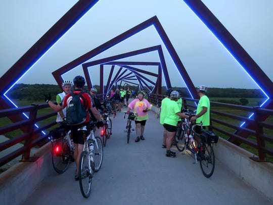 The High Tressle Trail bridge proves to be one of many