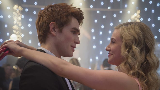 KJ Apa as Archie and Lili Reinhart as Betty on CW's 'Riverdale.'