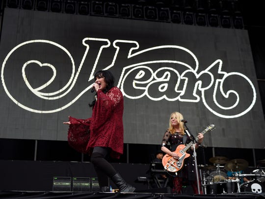 Heart's Ann (left) and Nancy Wilson will join Cheap Trick and Joan Jett at Klipsch Music Center on July 17.