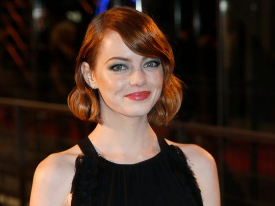 Actress Emma Stone poses during a photocall prior to