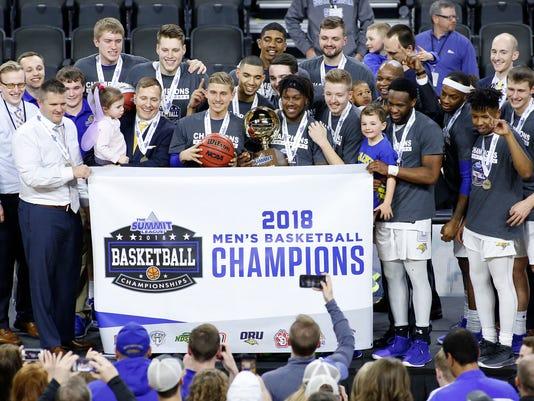 South Dakota vs South Dakota State Summit League Basketball Championship