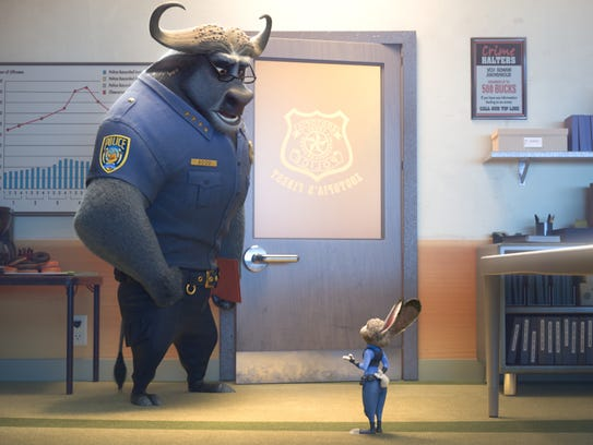 Chief Bogo (voiced by Idris Elba) doesn't think much
