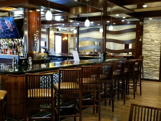 The festive interior of Stoney Brook Grille in Branchburg.