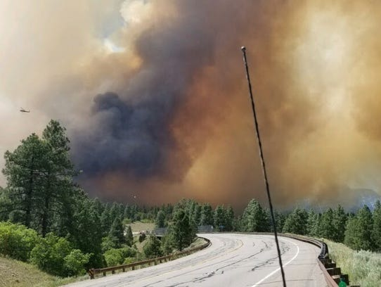 Increased fire activity shut down Highway 550 Friday