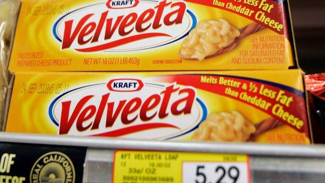 Kraft Foods' Velveeta cheese on display at a grocery store in 2008.